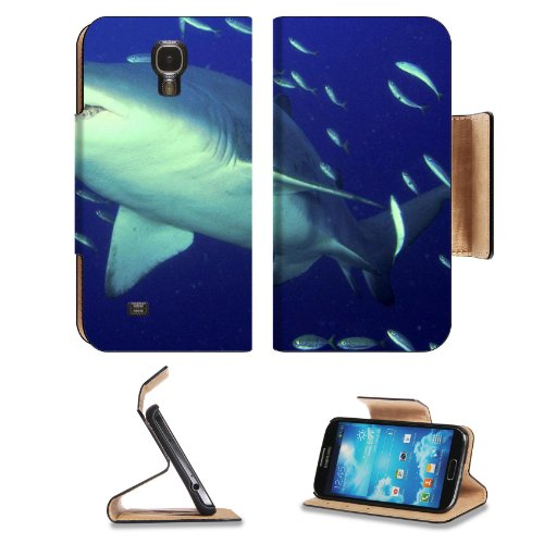 Animal Wildlife Shark Tiger Ocean Predator Sea Marine Samsung Galaxy S4 Flip Cover Case With Card Holder Customized Made To Order Support Ready Premium Deluxe Pu Leather 5 Inch (140Mm) X 3 1/4 Inch (80Mm) X 9/16 Inch (14Mm) Luxlady S Iv S 4 Professional C