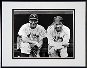 Photo File New York Yankees Lou Gehrig and Babe Ruth Framed Photo by Photo File