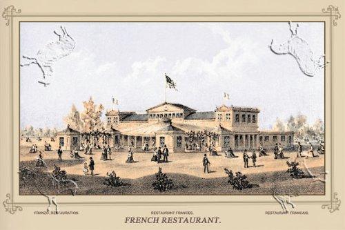 Art Poster, Centennial International Exhibition, 1876 - French Restaurant - 18x12