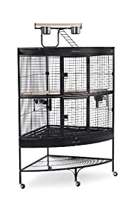 Prevue Pet Products Large Corner Bird Cage 3158BLK Black 45-Inch by 30-Inch by 69-Inch