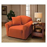 Madison Stretch Jersey Tangerine Chair Slipcover, Solid