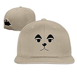 YAJENNIE Unisex Cute Dog Face Flat Baseball Cap Hats