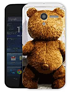"Ted This Side Printed Designer Mobile Back Cover For ""Motorola Moto X"" By Humor Gang (3D, Matte Finish, Premium Quality, Protective Snap On Slim Hard Phone Case, Multi Color)"