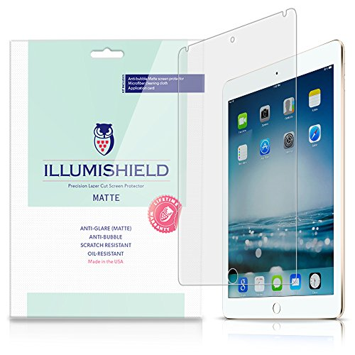 Illumishield - Apple Ipad Air 2 Matte Screen Protector (2014) (6Th Generation) With Lifetime Replacement Warranty / Anti-Glare Hd Clear Film / Anti-Bubble & Anti-Fingerprint / Premium Japanese High Definition Invisible Crystal Shield - [2-Pack] Retail Pac