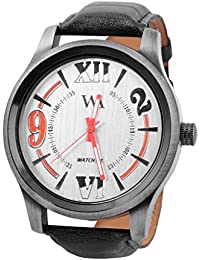 WATCH ME BLACK BROWN LEATHER ANALOG WATCH FOR MEN AND BOYS WM-0086-OO