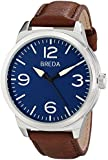 Breda Men's 8183A Watch With Brown Leather Band