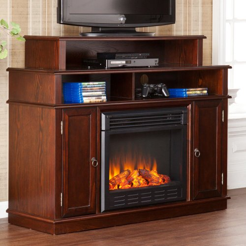 Southern Enterprises Lynden Espresso Electric Fireplace Media Console image B00FRN1JN2.jpg