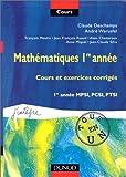 echange, troc François Moulin, Jean-françois Ruaud - Mathématiques, 1re année : Cours et exercices corrigés, 1re année MPSI, PCSI, PTSI