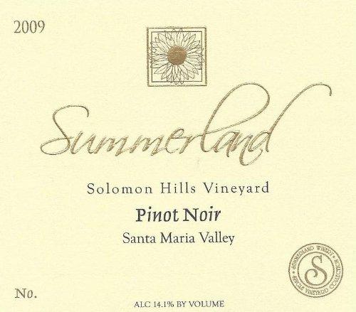 2010 Summerland Winery Solomon Hills Pinot Noir Santa Maria Valley 750 Ml