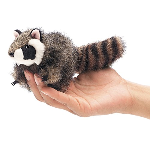 Folkmanis Mini Raccoon Finger Puppet - 1