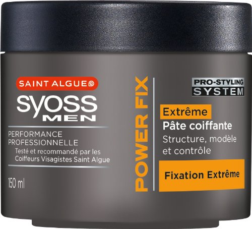 St Algue - Syoss Men - Pâte Coiffante - Power Fix - Pot 150 ml