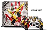 PS4 Designer Skin for Sony PlayStation 4 Console System plus Two(2) Decals for: PS4 Dualshock Controller - Ghost Ops