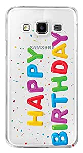 WOW Transparent Printed Back Cover Case For Samsung Galaxy E7