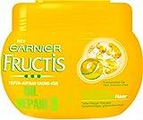 Garnier Fructis Oil Repair Tiefen-Aufbau Repair Creme Kur, Haarkur für trockenes, strapaziertes Haar (mit 3 Ölen: Oliven-, Avocado- und Shea-Nuss-Öl) 3 x 300 ml
