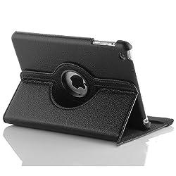 KolorFish iRotation 360 degree Rotation Business Leather Flip iPad Case Cover For iPad Mini, iPad Mini 2, iPad Mini 3 Black
