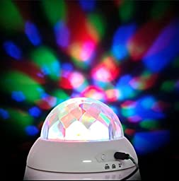 SlumberGlow Night Light Lamp by Sweet Dreams-Multicolored Rotating Lava Lamps - Soothing Music- Battery/USB Power- Simple to Use - Great for Kids,Bedroom,Camping,Romantic Settings & Parties (White)