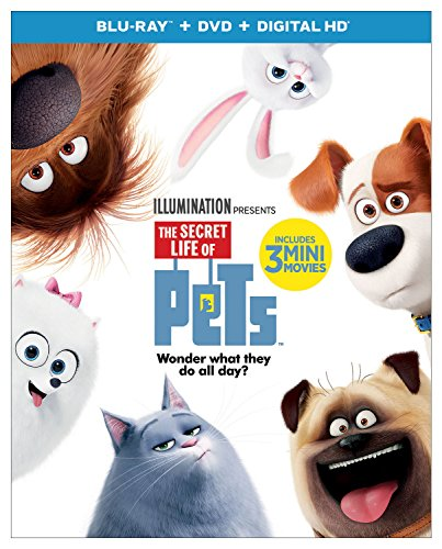 Blu-ray : The Secret Life Of Pets (With DVD, Snap Case, 2 Pack, Digitally Mastered in HD, Slipsleeve Packaging)