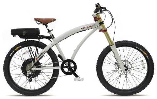 Prodeco V3 Outlaw SE 8 Speed Electric Bicycle, Pearlescent White Metallic, 26-Inch/One Size
