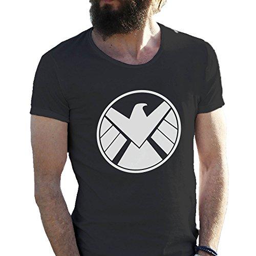 Agents Of S H I E L D Shield Cool Logo Nero T-shirt maglietta per uomo Medium
