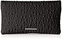 BCBGeneration Runaway Foldover Clutch, Black, One Size