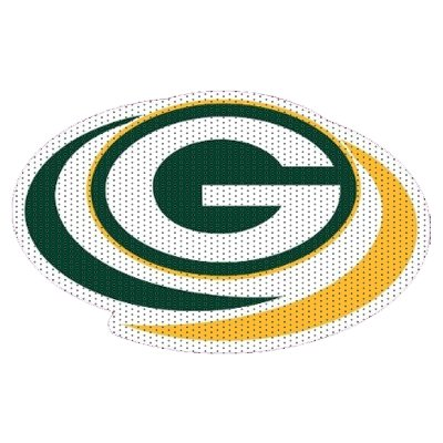 NFL Green Bay Packers 8 inch Unobstructed View Car Window Film from FD