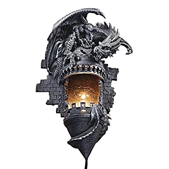 Design Toscano Dragons Castle Lair Illuminated Wall Sconce