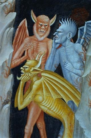 Detail Of Demons From Militant Church And Triumphant Church By Andrea Di Buonaiuto Wall Mural - 72 Inches H X 48 Inches W - Peel And Stick Removable Graphic