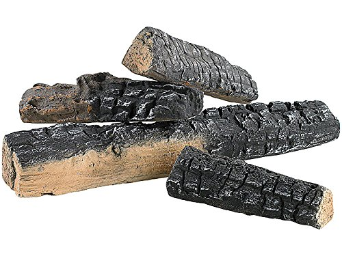 Tronchetti di legna in ceramica, elemento decorativo per stufe a bioetanolo, 4 pezzi