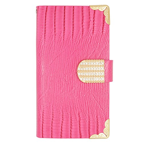 Eagle Cell Sharp Aquos Crystal PU Leather TPU Case - Retail Packaging - Crocodile Skin/Pink (Sharp Crystal Phone Case compare prices)