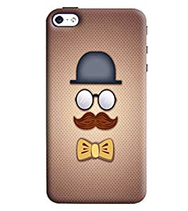 Blue Throat Men With Eyes And Moustache Printed Desginer Back Cover/Case For Apple iPhone 4s