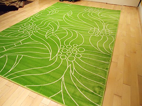 New Green Rug Modern 4'x6' Area Rugs Contemporary Rugs 4x6 Carpet Two Colors Solid Rug Wavy Leaf Grass Rugs (Medium 4x6)
