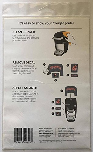 Keurig Washington State University Brewer Decal Set for K10 Mini Plus Brewing System, Gray