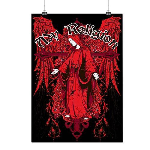 Mio Religione Dea Credere Dio Opaco/Lucida Poster A2 (60cm x 42cm)   Wellcoda
