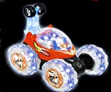 (SGM)Remote Control 360 Turbo Twister Stunt Car with Flashing Light BLUE