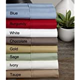 Egyptian Cotton Wrinkle Resistant 500 Thread Count Damask Stripe Sheet Set (Queen, Taupe)