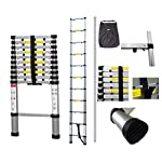 SOTECH - 10.50 ft telescopic ladder – Carry bag included – Aluminium ladder