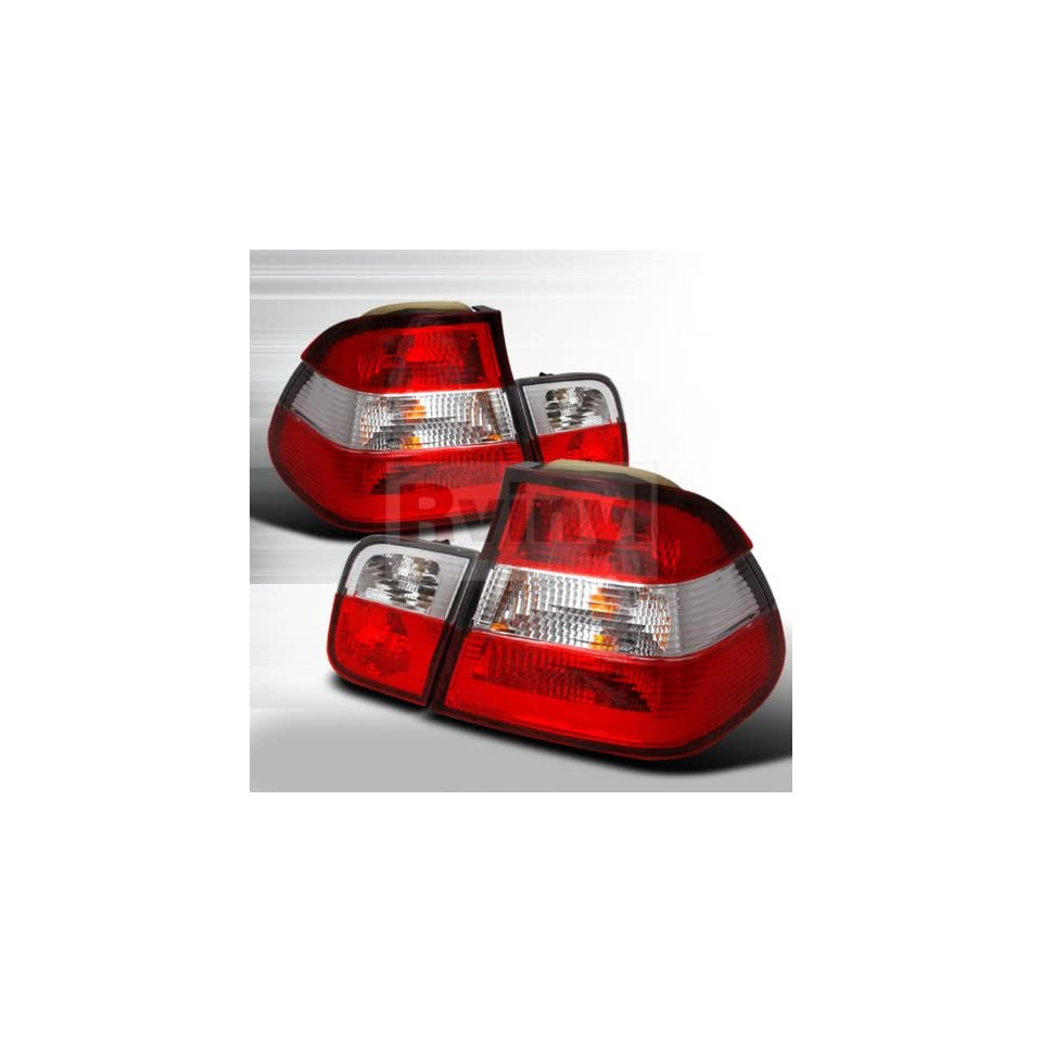 BMW E36 3 Series Coupe 325is 325i 318is 318i 328is 328i 323is 323i M3 1992 1993 1994 1995 1996 1997 1998 Tail Lights   Clear Red