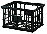 United Solutions-Organize Your Home CR0018 Black Large Plastic Storage Crate - Large Plastic Organizing Box in Black