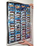 Mascar Pro Hotwheels Matchbox 1/64 scale Display case with Clear Snap-On Dust Cover for up to 52 cars