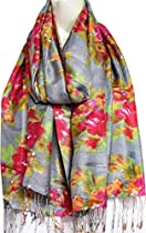 Silk Wool Womens Scarf Printed India Clothing Accessory (Multicolor, 80 x 28 inches)