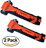 BlueSkyBos Value 2 Pack - Emergency Escape Tool Auto Car Window Glass Hammer Breaker and Seat Belt Cutter Escape 2-in-1 Tool by
