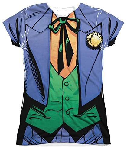 The Joker Costume Junior Fit All Over Front T-Shirt