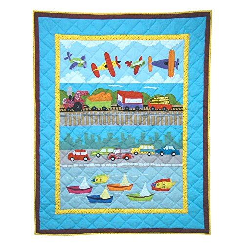 Patch Magic 36-Inch by 46-Inch Junior Travel Quilt Crib