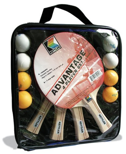 Check Out This Kettler 7244-100 4-Player Table Tennis Set- ADVANTAGE