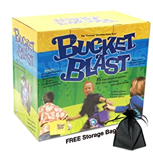 "Bucket Blast Game Set - The ""Funnest"" Beanbag Game Ever! Plus Free Storage Bag!"