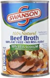Swanson Low Sodium Beef Broth, 14.5 oz. Cans, 24 Count