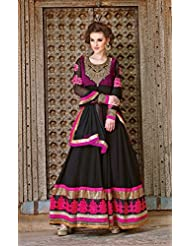 Black Georgette Long Heavy Anarkali Heavy Salwar Kameez
