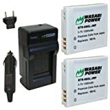 Wasabi Power Battery (2-Pack) and Charger for Canon NB-6L, CB-2LY and Canon PowerShot D10, D20, S90, S95, SD770 IS, SD980 IS, SD1200 IS, SD1300 IS, SD3500 IS, SD4000 IS, SX240 HS, SX260 HS, SX500 IS, ELPH 500 HS