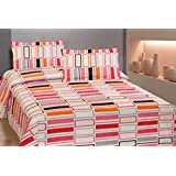 GOODWILL Attractive 100 %cotton ,144 Thread Count ,Premium Venice Collection Double Bedsheet Set (Venice-5C)