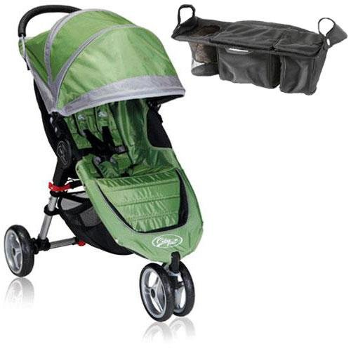 Baby Jogger Bj11240 City Mini Single With Parent Console - Green Gray front-1059023